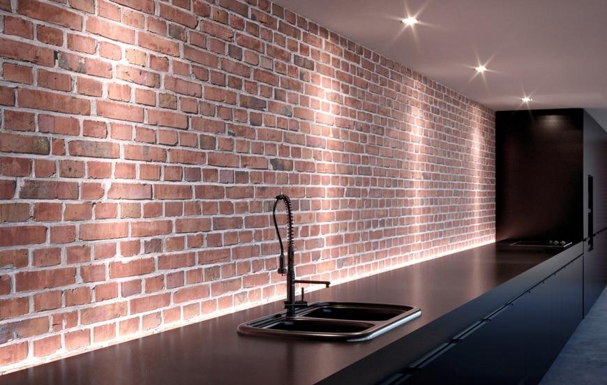 nettoyer les murs en briques dans une cuisine les astucieux. Black Bedroom Furniture Sets. Home Design Ideas