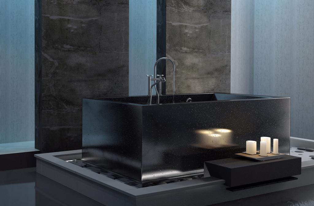comment nettoyer une baignoire noire les astucieux. Black Bedroom Furniture Sets. Home Design Ideas