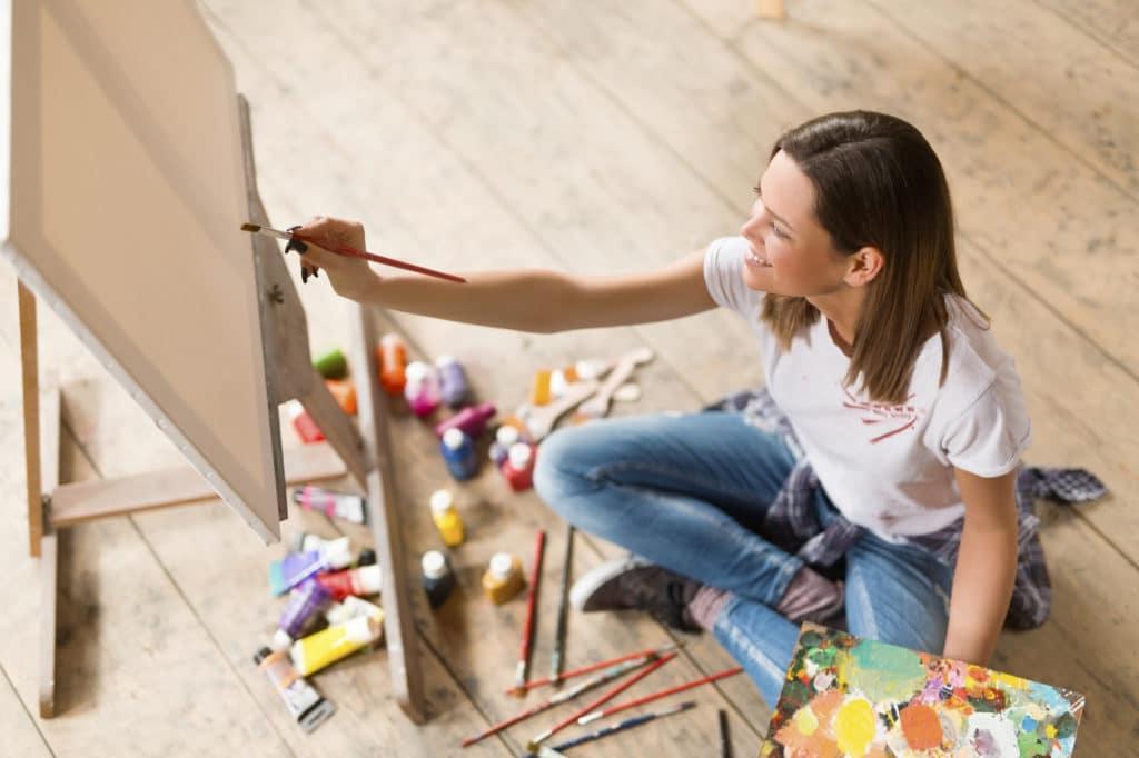 comment faire partir de la peinture l eau sur du coton. Black Bedroom Furniture Sets. Home Design Ideas