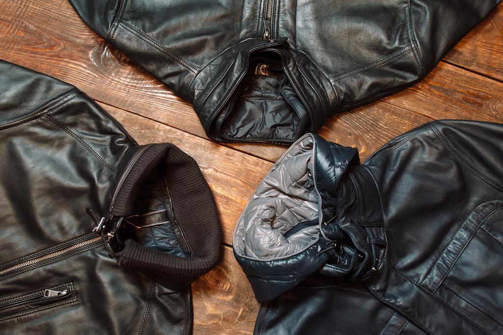 Odeur sur veste en cuir